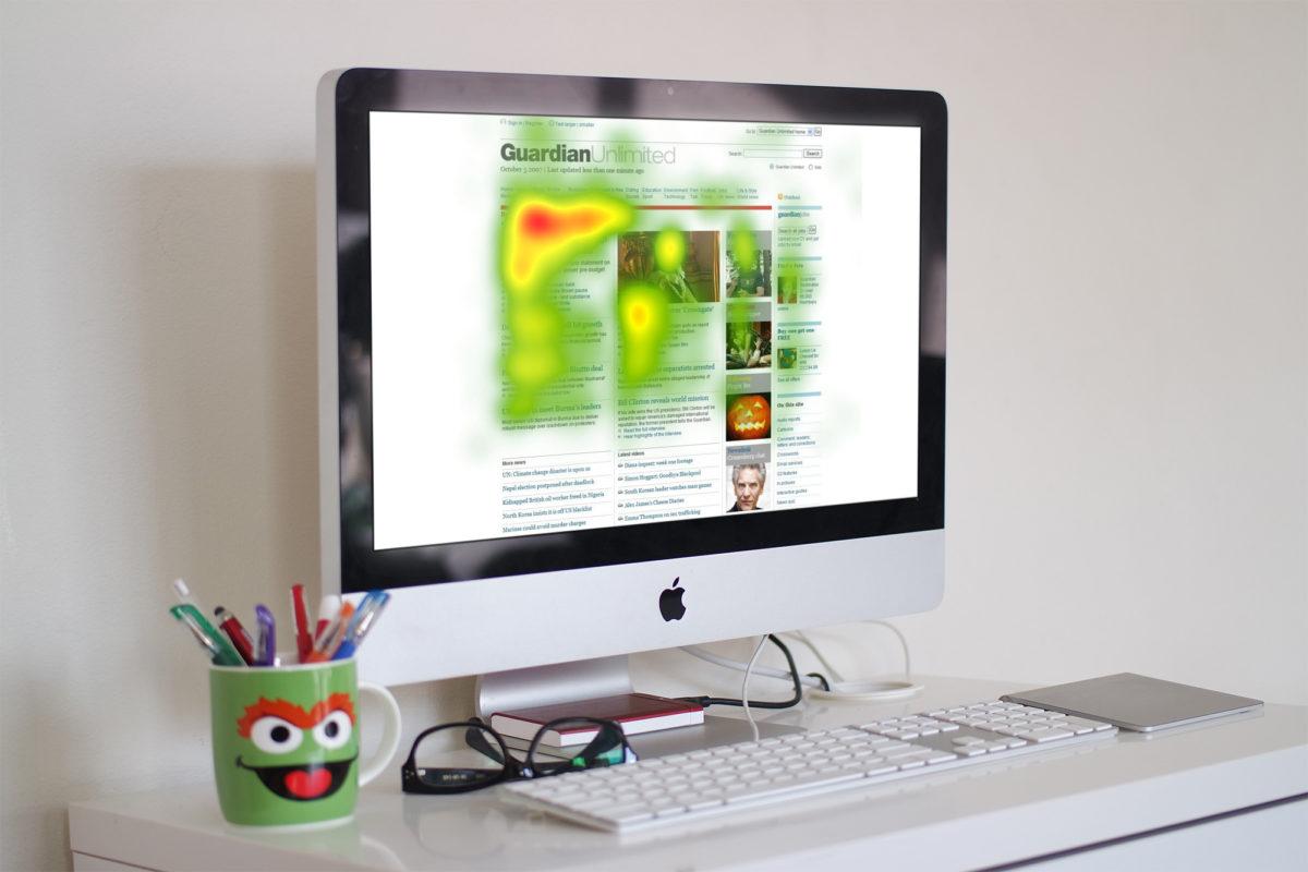 Heatmap website CRO